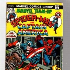 Cómics: MARVEL TEAM UP 13 - 1973 FN/VFN / AMAZING SPIDER-MAN & CAPTAIN AMERICA / LEN WEIN & GIL KANE. Lote 277058518