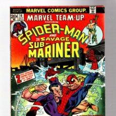 Cómics: MARVEL TEAM UP 14 - 1973 VG+ / AMAZING SPIDER-MAN & PRINCE NAMOR THE SUB-MARINER. Lote 277058818