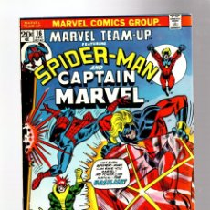 Cómics: MARVEL TEAM UP 16 AMAZING SPIDER-MAN & CAPTAIN MARVEL - 1973 FN/VFN / LEN WEIN & GIL KANE. Lote 277059583