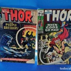 Cómics: THE MIGHTY THOR Nº 134 1966 + Nº 180 - 1980 -EDICION USA-BUEN ESTADO. Lote 277257138