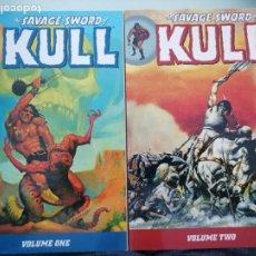 Cómics: SAVAGE SWORD OF KULL VOL 1+2 RARE /GRAPHIC NOVEL COMPLETE DARK HORSE. Lote 277634083