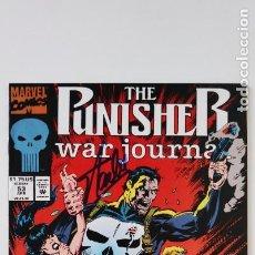 Comics : THE PUNISHER WAR JOURNAL CÓMIC FIRMADO ( SIGNED ) POR STAN LEE CON CERTIFICADO ( COA ) 1993. Lote 279520858