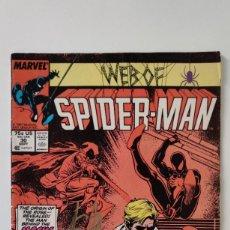 Comics: WEB OF SPIDER-MAN CÓMIC FIRMADO ( SIGNED ) POR STAN LEE CON CERTIFICADO ( COA ) 1987. Lote 281894778
