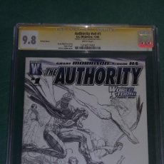 Cómics: THE AUTHORITY #1 SKETCHE COVER CGC 9.8 SIGNATURE SERIES ARTHUR ADAMS. Lote 282539378