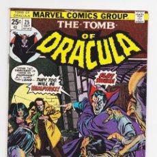 Cómics: TOMB OF DRACULA (1972) 25 (MARVEL, USA) / FN+ (6.5) - 1ST HANNIBAL KING. Lote 288401033