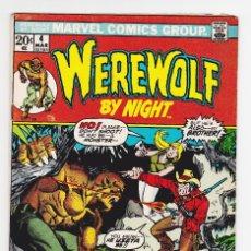 Cómics: WEREWOLF BY NIGHT (1972) 4 (MARVEL, USA) / VG- (3.5). Lote 288402328