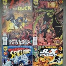 Cómics: 4 NUMEROS EN INGLES LINEA AMALGAM. SPIDERBOY, JLX, LOBO THE DUCK, BAT THING. Lote 288409638