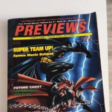 Cómics: PREVIEWS PORTADA BATMAN MEETS SPAWN VOL. IV #1 (JANUARY 1994) EN INGLÉS. Lote 289486408