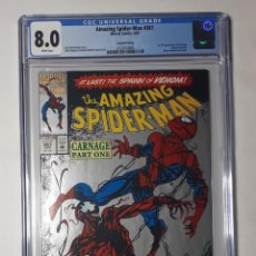 Cómics: LOTE 3 COMICS USA SPIDERMAN AMAZING SPIDER-MAN 361 CGC 8.0 + 301 + SPIDERMAN 1 (1990) EXCELENTES. Lote 289608283