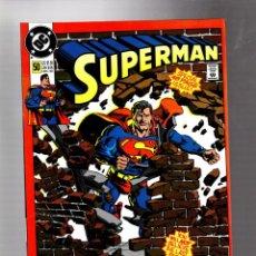 Cómics: SUPERMAN 50 - DC 1990 VFN+ GIANT ANNIVERSARY / ORDWAY & JANKE, BYRNE, SWAN, BREEDING, GAMMILL. Lote 293456663