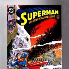 Cómics: SUPERMAN 67 - DC 1992 VFN/NM / JURGENS & BREEDING. Lote 293457798