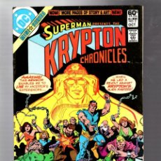 Cómics: SUPERMAN KRYPTON CHRONICLES 2 - DC 1981 FN. Lote 293459073