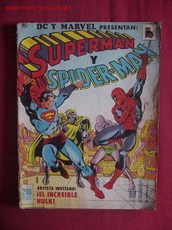 SUPERMAN Y SPIDERMAN (BRUGUERA). ¡¡ RARISIMO !! (Tebeos y Comics - Vértice - Super Héroes)