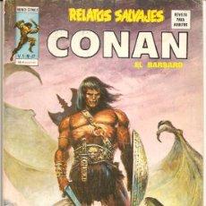 Cómics: RELATOS SALVAJES,CONAN V-1 Nº 47 MUY DIFICIL Y BUENO, JOHN BUSCEMA, ALFREDO ALCALA, ROY THOMAS. Lote 6890871