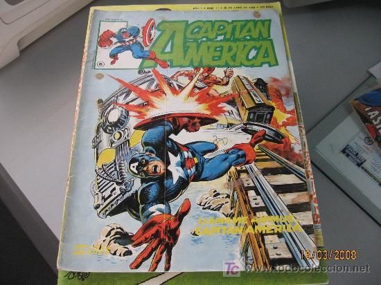 CAPITAN AMERICA Nº 6, LINEA SURCO, COLOR (Tebeos y Comics - Vértice - Capitán América)