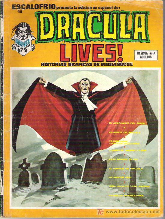 DRACULA LIVES ! - HISTORIAS GRAFICAS DE MEDIANOCHE *** NUM 4 **1974 ESCALOFRIO 15 (Tebeos y Comics - Vértice - Terror)