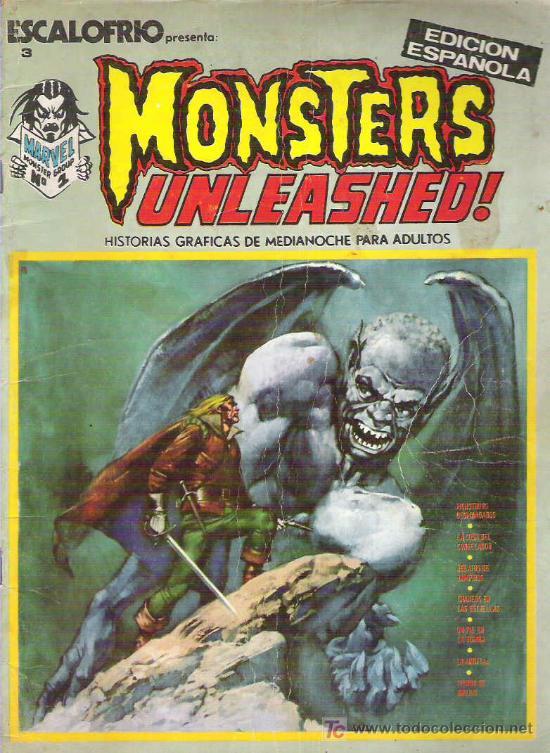 MONSTERS UNLEASHED ! NUM 1 EDICIONES VERTICE 1973 (Tebeos y Comics - Vértice - Otros)