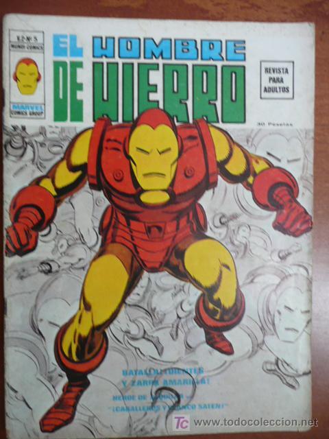 EL HOMBRE DE HIERRO. VOL 2. Nº 5. VÉRTICE ¡¡¡DIFÍCIL!!! (Tebeos y Comics - Vértice - Hombre de Hierro)