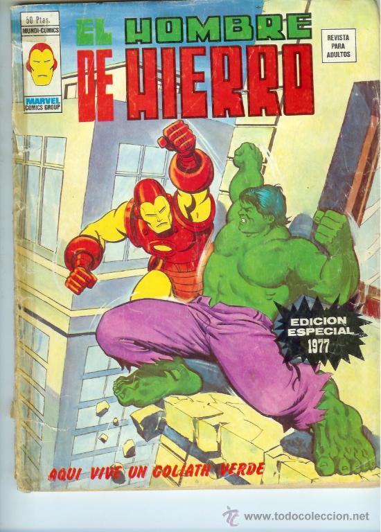 VÉRTICE VOL. 2 EL HOMBRE DE HIERRO EDICIÓN ESPECIAL 1977. 50 PTS. DIFÍCIL!!!!! (Tebeos y Comics - Vértice - Hombre de Hierro)