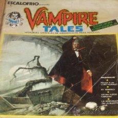 Cómics: VÉRTICE ESCALOFRÍO Nº 1. VAMPIRE TALES Nº 1. 1973. 30 PTS. REGALO Nº 24 DRACULA LIVES! 6.. Lote 12684074