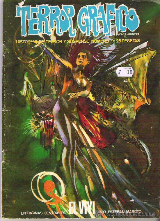 TERROR GRAFICO - ESTEBAN MAROTO *** NUM 9 EDICIONES VERTICE 1972 (Tebeos y Comics - Vértice - Terror)