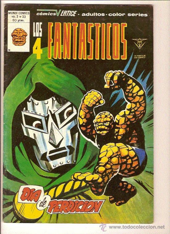 LOS 4 FANTASTICOS V3 Nº33 DE VERTICE (Tebeos y Comics - Vértice - 4 Fantásticos)