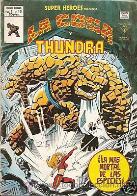 SUPER HEROES VERTICE V2 Nº 121 LA COSA Y THUNDRA (Tebeos y Comics - Vértice - Super Héroes)
