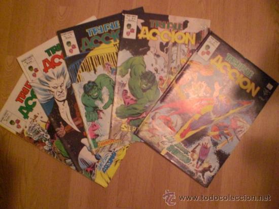 LOTE DE 5 COMICS TRIPLE ACCION (Tebeos y Comics - Vértice - Otros)