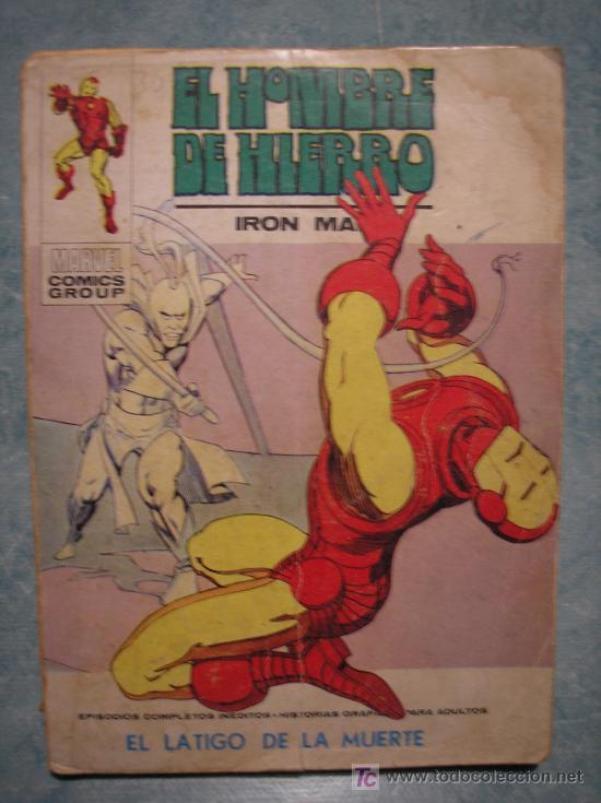 EL HOMBRE DE HIERRO EPISODIO COMPLETO Nº32 AÑO 1973.LE FALTA LA HOJA 111 Y 112. (Tebeos y Comics - Vértice - Hombre de Hierro)