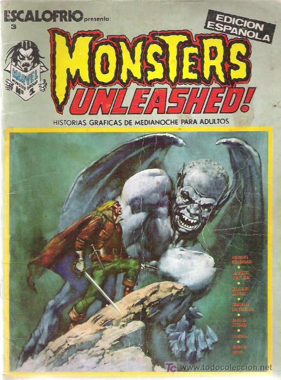 ESCALOFRIO 3 - MONSTERS UNLEASHED ! Nº 1 VERTICE 1973 (Tebeos y Comics - Vértice - Terror)