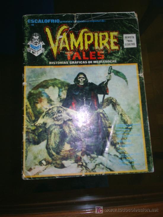 M69 COMIC VAMPIRE TALES NUMERO 2 ESCALOFRIO NUMERO 10 EDICIONES VERTICE (Tebeos y Comics - Vértice - Otros)