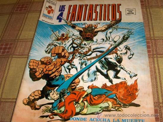 VÉRTICE VOL. 2 LOS 4 FANTÁSTICOS Nº 21. 35 PTS. 1976. (Tebeos y Comics - Vértice - 4 Fantásticos)