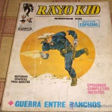 Cómics: VÉRTICE VOL. 1 RAYO KID Nº 4 Y DE REGALO EL Nº 13. 25 PTS.1971. MUY DIFÍCIL!!!!!!!!!!!. Lote 31271602