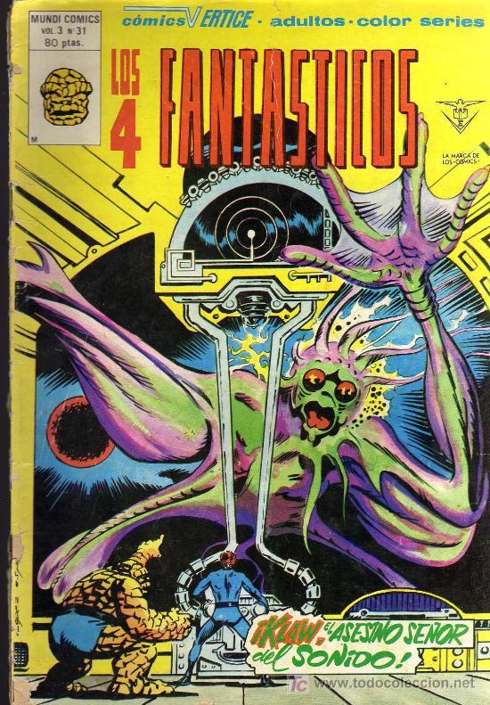 LOS 4 FANTÁSTICOS - MUNDI COMICS VOL. 3 Nº 41 - COMICS VÉRTICE (Tebeos y Comics - Vértice - 4 Fantásticos)