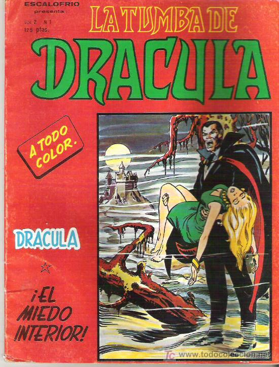 LA TUMBA DE DRACULA - VOL 2 Nº1 EDICIONES VERICE 1981 (Tebeos y Comics - Vértice - Terror)