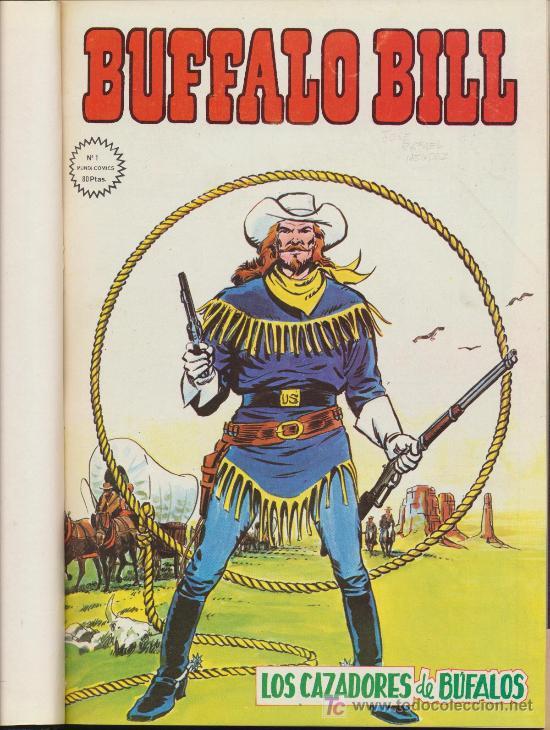 BUFFALO BILL. VÉRTICE. 8 EJEMPLARES DEL 1 AL 8 ENCUADERNADOS EN UN TOMO. (Tebeos y Comics - Vértice - Otros)
