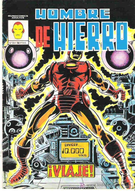 HOMBRE DE HIERRO - Nº 3 VERTICE 1981 BUENO (Tebeos y Comics - Vértice - Hombre de Hierro)