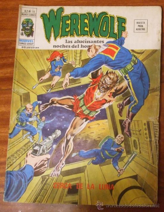 WEREWOLF V.2 Nº 18 CERCA DE LA LUNA VERTICE 1974 (Tebeos y Comics - Vértice - V.2)