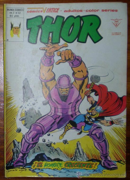 THOR. EL HOMBRE CRECIENTE. VOL2 Nº52. EDICIONES VERTICE 1980 COLOR (Tebeos y Comics - Vértice - Thor)