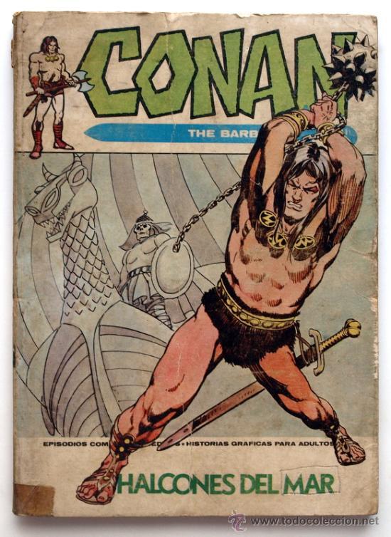 CONAN THE BARBARIAN Nº 10 - EDICIONES VERTICE - AÑO 1972 - HALCONES DEL MAR (Tebeos y Comics - Vértice - Conan)