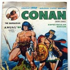 Cómics: CONAN THE BARBARIAN- MUNDI-COMICS-EDICIONES VERTICE -ANUAL ´80 Nº 1. Lote 23304425