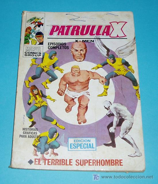 EL TERRIBLE SUPERHOMBRE. PATRULLA X Nº 3. MARVEL COMICS GROUP. EDIT. VERTICE (Tebeos y Comics - Vértice - Patrulla X)