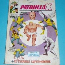 Cómics: EL TERRIBLE SUPERHOMBRE. PATRULLA X Nº 3. MARVEL COMICS GROUP. EDIT. VERTICE. Lote 24858786