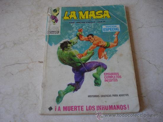 LA MASA Nº 8 - ¡ A MUERTE LOS INHUMANOS ! (Tebeos y Comics - Vértice - La Masa)