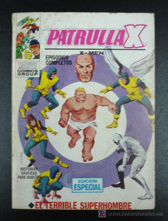 PATRULLA X. X MEN. EPISODIOS COMPLETOS. EDICIÓN ESPECIAL. EL TERRIBLE SUPERHOMBRE. 20,5 CM. 128 PÁG. (Tebeos y Comics - Vértice - Patrulla X)