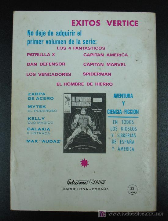 Cómics: PATRULLA X. X MEN. EPISODIOS COMPLETOS. EDICIÓN ESPECIAL. EL TERRIBLE SUPERHOMBRE. 20,5 CM. 128 PÁG. - Foto 3 - 20450425