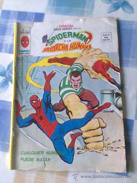 ESPECIAL SUPER HEROES SPIDERMAN Y LA ANTORCHA HUMANA Nº 14 (Tebeos y Comics - Vértice - Super Héroes)