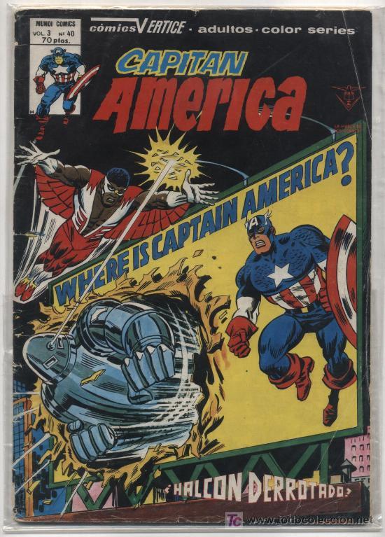 CAPITÁN AMÉRICA VOL. 3 Nº 40. (Tebeos y Comics - Vértice - Capitán América)