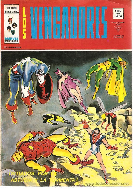 LOS VENGADORES VOL. 1 Nº 30 (Tebeos y Comics - Vértice - Vengadores)
