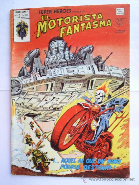EL MOTORISTA FANTASMA N.111 V. 2, MUNDI COMICS 1976 EDICIONES VERTICE (Tebeos y Comics - Vértice - V.2)